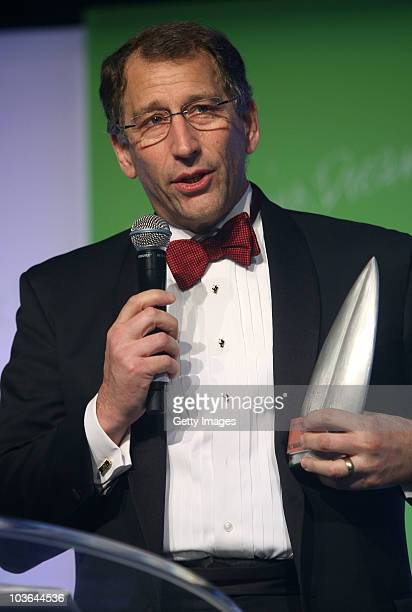 Eric Hertz Chief Executive Officer of 2degrees accepts the Supreme award during the 2010 TVNZ-NZ Marketing Awards at the Langham Hotel on August 26,...