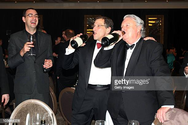 Eric Hertz Chief Executive Officer of 2degrees celebrates after winning the Supreme award during the 2010 TVNZ-NZ Marketing Awards at the Langham...