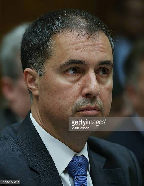 Eric Hess, CEO of KeyPoint Government Solutions, appears before a House Oversight and Government Reform Committee on Capitol Hill June 24, 2015 in...