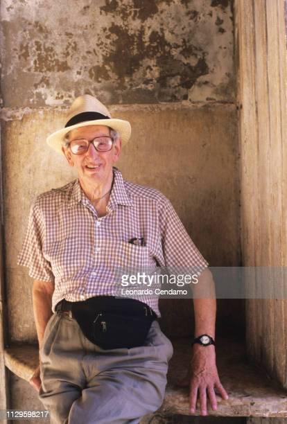 Eric Hobsbawm British historian portrait Carpi Italy 15th September 2006