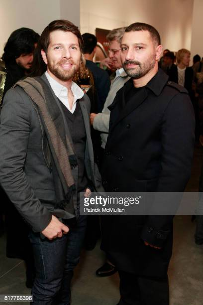 Eric Hoffman and Michael Reynolds attend ALBERT WATSON Artist Reception at Hasted Kraeutler Gallery on October 21 2010 in New York City