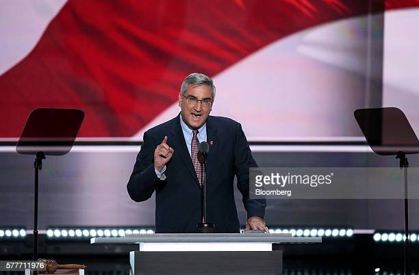Eric Holcomb, lieutenant governor of Indiana, speaks during the Republican National Convention in Cleveland, Ohio, U.S., on Tuesday, July 19, 2016....