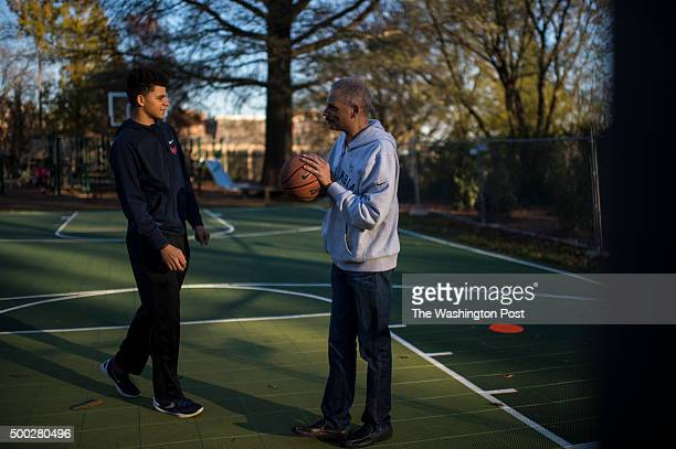 Eric Holder III plays a game of basketball with his dad former attorney general Eric Holder in Washington DC on Saturday November 14 2015