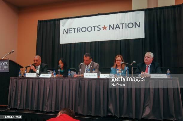 Eric Holder, Vanita Gupta, Alex Padilla, Denise Merrill, Adam Bonin panelists discuss the importance of the census to the distribution of good and...