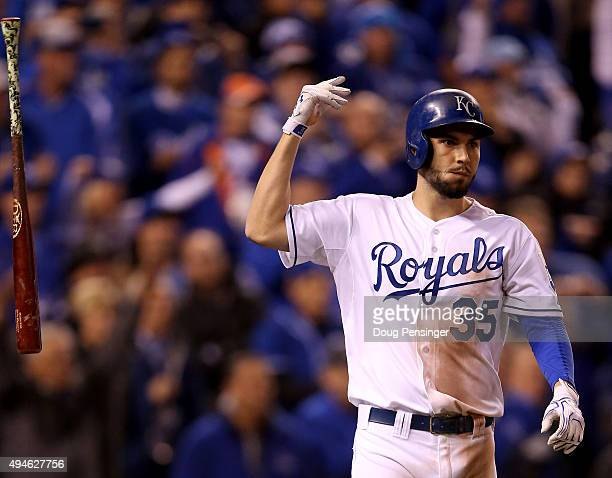 Eric Hosmer Of The Kansas City Royals Reacts After Defeat New