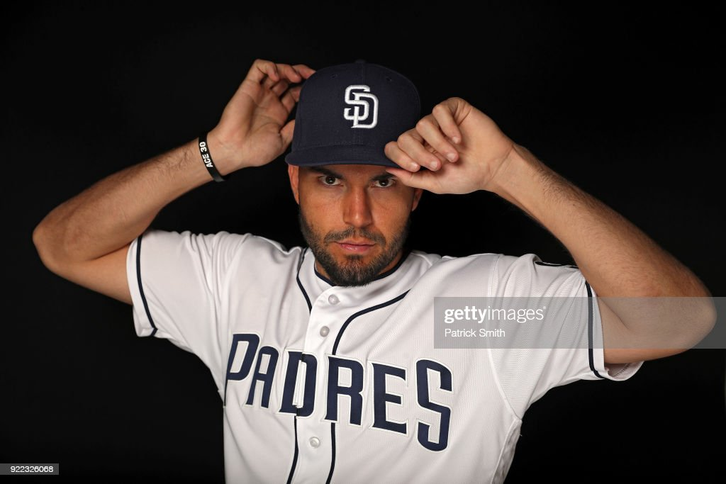 Eric Hosmer #30 of the San Diego Padres poses on photo day during MLB Spring Training at Peoria Sports Complex on February 21, 2018 in Peoria, Arizona.