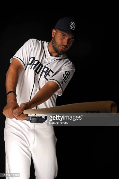 Eric Hosmer Of The San Diego Padres Poses On Photo Day During MLB Spring Training At