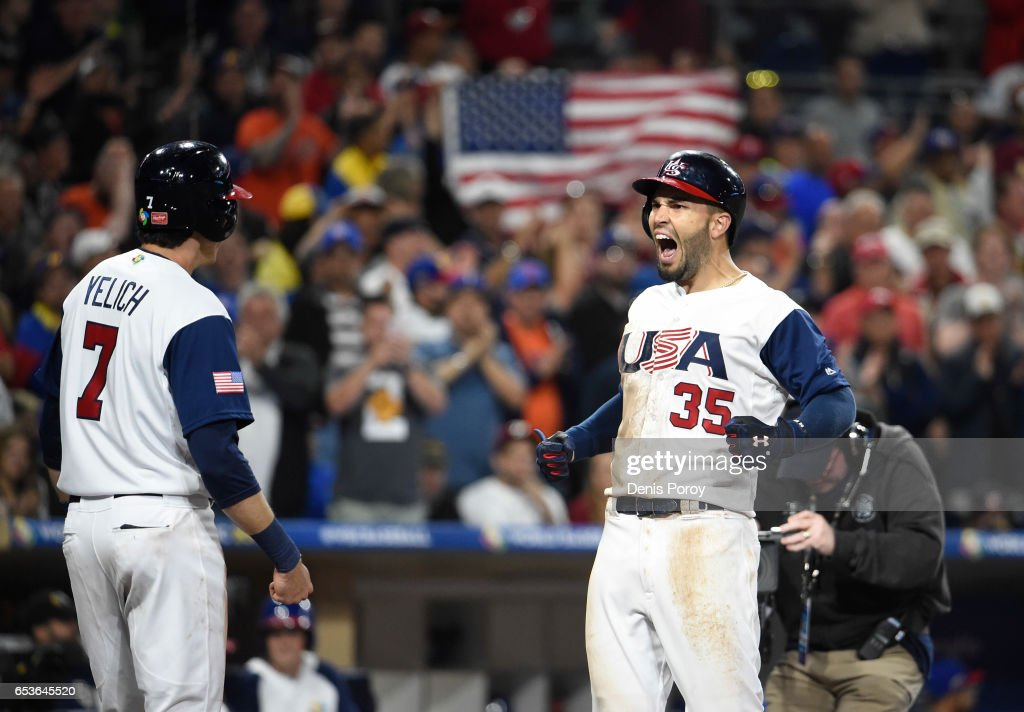 World Baseball Classic - Pool F - Game 2 - Venezuela v United States : News Photo