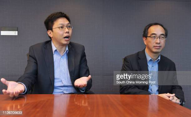 Eric Hui Mingyan Equinix AsiaPacific director of cloud and service provider markets Alex Tam Wingyiu managing director at data centre operator...