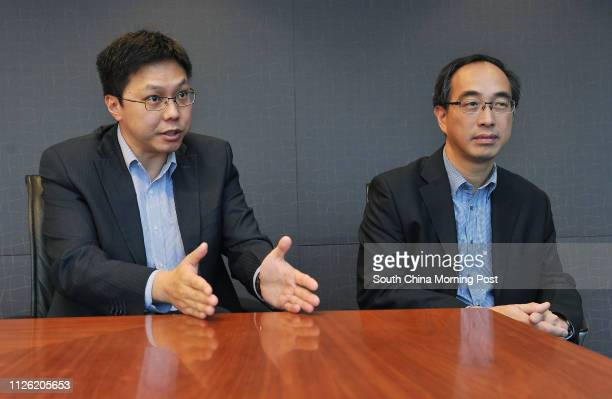 Eric Hui Mingyan Equinix AsiaPacific director of cloud and service provider markets Alex Tam Wingyiu managing director at data centre operator...