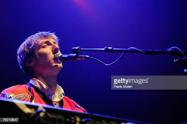 Eric Hutchinson performs during the Bud Light NHL All Star Concert at The Tabernacle on January 24 2008 in Atlanta Georgia