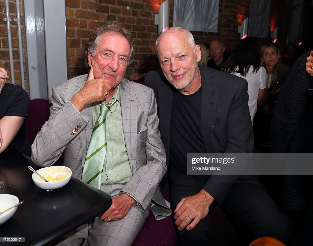 Eric Idle and David Gilmour attend the launch of Salman Rushdie's new book 'Joseph Anton' on September 14, 2012 in London, England.