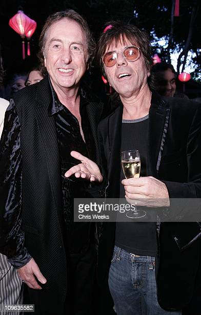 Eric Idle and Frank Infante during Dave Stewart Hosts the Unveiling of Coco de Mer Boutique Inside at Coco de Mer in West Hollywood California United...