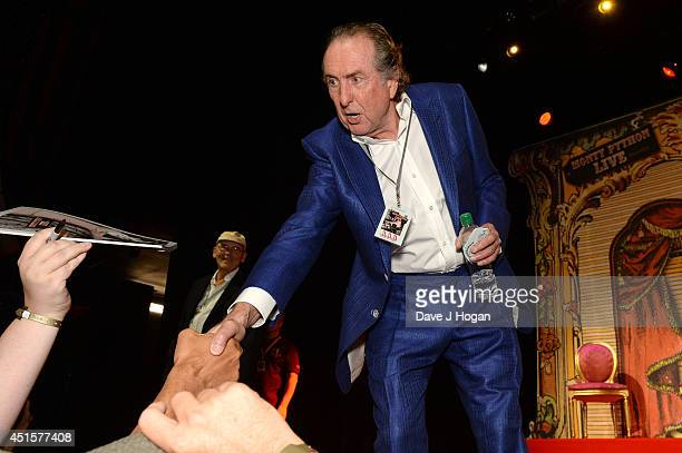 Eric Idle attends a QA on the opening night of Monty Python Live on July 1 2014 in London England