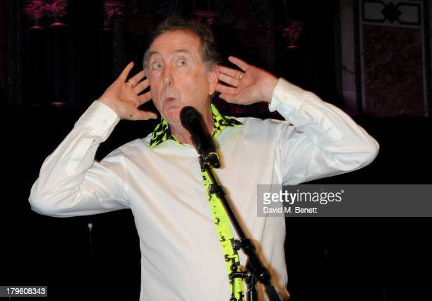 Eric Idle performs at the Queen AIDS Benefit in support of The Mercury Phoenix Trust at One Mayfair on September 5 2013 in London England