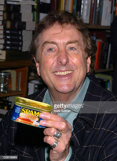Eric Idle with SPAM during Eric Idle Signs His Book 'The Greedy Bastard Diary' at Dutton's Books in Brentwood at Dutton's Books in Brentwood...
