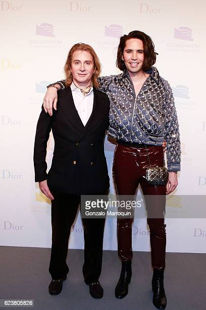 Eric Javits and Di Mondo at the 2016 Guggenheim International Gala PreParty at Solomon R Guggenheim Museum on November 16 2016 in New York City