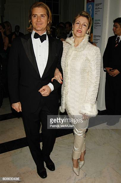 Eric Javits and Helena Lehane attend Museum of the City of New York Director's Council 20th Annual Winter Ball arrivals and cocktails at Museum of...