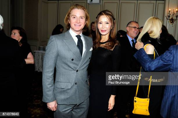 Eric Javits and Yung Hee Kim attend In Celebration of the life of Lee Mellis at 21 Club on November 14 2017 in New York City