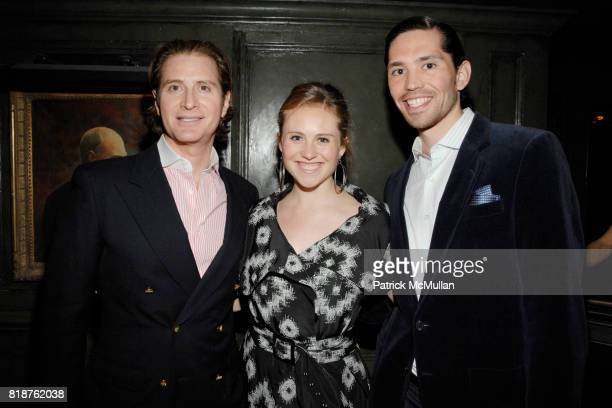 Eric Javits Carolina Portago and EdMundo Huerta attend THE CINEMA SOCIETY hosts the after party of MULTIPLE SARCASMS at The Lion on April 19 2010 in...