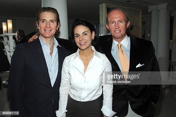 Eric Javits Mary van Pelt and Mark Gilbertson attend GEOFFREY BRADFIELD Birthday Celebration at 116 East 61st St on September 20 2007 in New York City