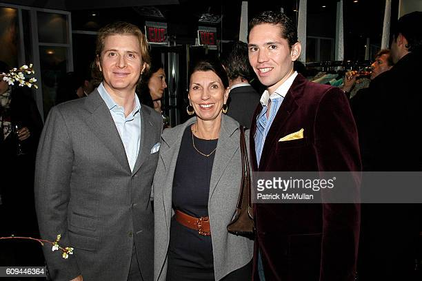 Eric Javits Pamela Fiori and Edmundo Huerta attend ALLEGRA HICKS Boutique Opening at Allegra Hicks on March 14 2007 in New York City