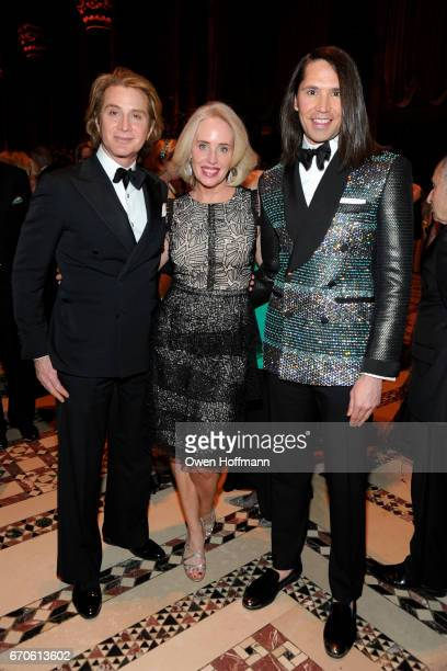 Eric Javitz Amy Hoadley and Di Mondo attend LNHN Honours Geoffrey Bradfield and John Manice at Cipriani 42nd Street on April 18 2017 in New York City