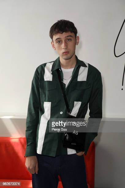Eric Jess attends the Agnes B Menswear Spring/Summer 2019 show as part of Paris Fashion Week on June 24 2018 in Paris France