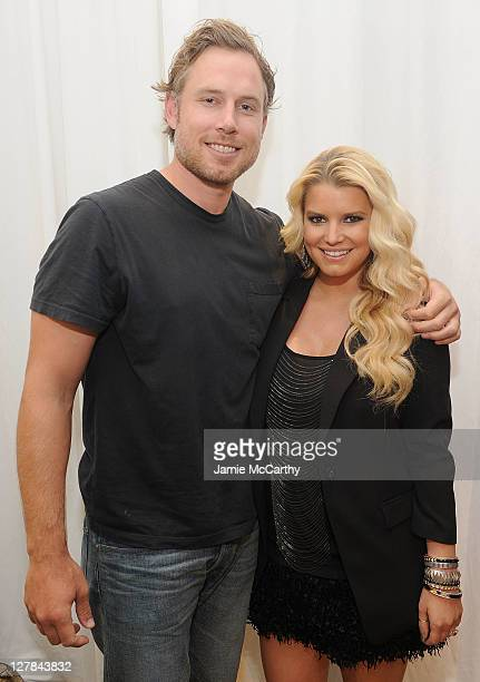 Eric Johnson and Jessica Simpson make an instore appearance celebrating the launch of the ReadyToWear Jessica Simpson Collection at Macy's Union...