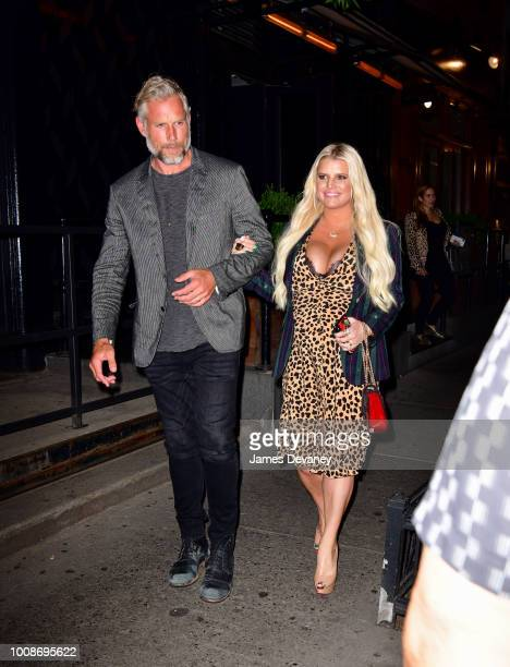 Eric Johnson and Jessica Simpson seen on the streets of Manhattan on July 31 2018 in New York City