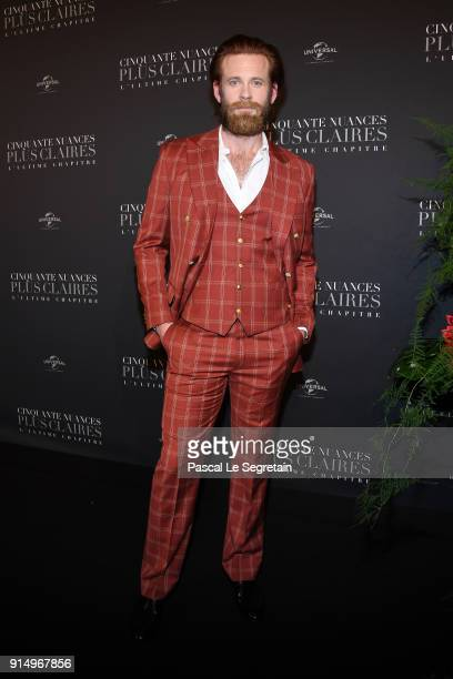 Eric Johnson attends 'Fifty Shades Freed 50 Nuances Plus Claires' Premiere at Salle Pleyel on February 6 2018 in Paris France