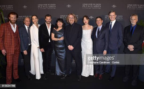 Eric Johnson Marcus Viscidi Rita Ora Jamie Dornan EL James a guest Dakota Johnson guests and James Foley attend the 'Fifty Shades Freed 50 Nuances...
