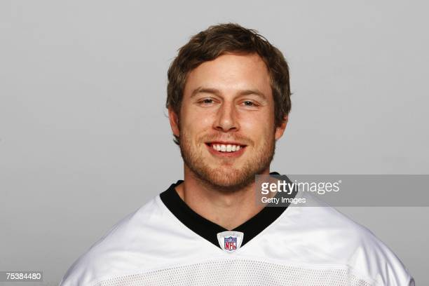 Eric Johnson of the New Orleans Saints poses for his 2007 NFL headshot at photo day in New Orleans Louisiana