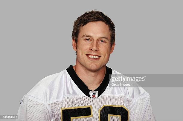 Eric Johnson of the New Orleans Saints poses for his 2008 NFL headshot at photo day in New Orleans Louisiana