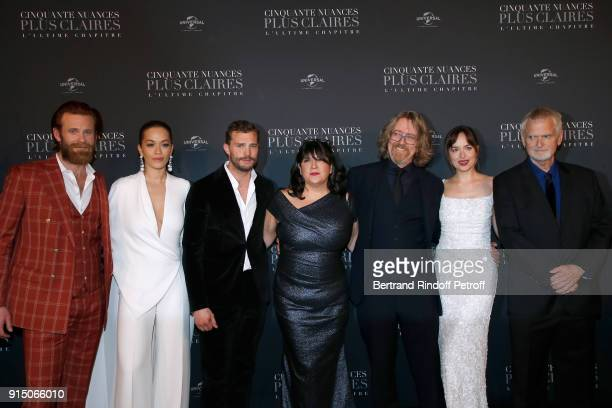 Eric Johnson Rita Ora Jamie Dornan EL James a guest Dakota Johnson and James Foley attend the 'Fifty Shades Freed 50 Nuances Plus Clair' Paris...