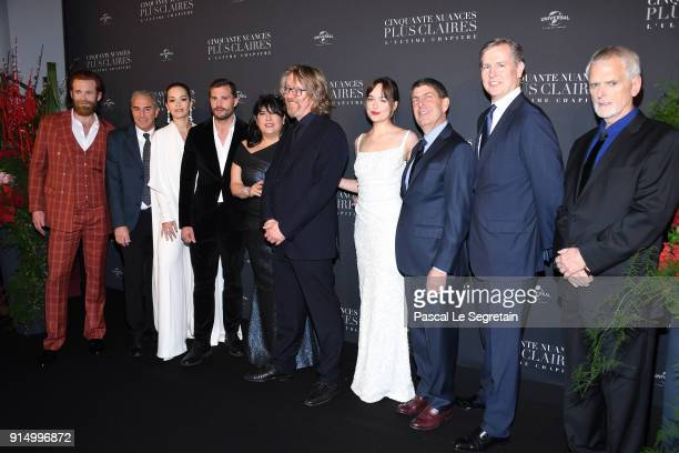 Eric JohnsonMarcus ViscidiRita OraJamie DornanEL Jamesa guestDakota Johnsonguests and James Foley attend Fifty Shades Freed 50 Nuances Plus Claires...