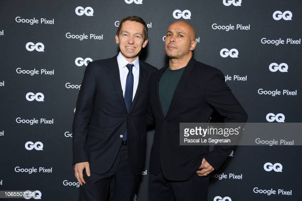 Eric Judor and a guests attend GQ Men Of The Year Awards 2018 at Centre Pompidou on November 19 2018 in Paris France