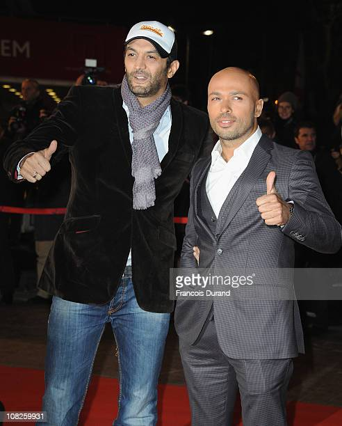 Eric Judor et Ramzy Bedia attend the NRJ Music Awards 2011 on January 22 2011 at the Palais des Festivals et des Congres in Cannes France