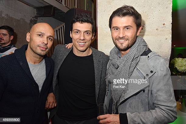 Eric judor Taig Khris and Christophe Beaugrand attend the Acer Pop Up Store Launch Party at Les Halles on November 20 2014 in Paris France