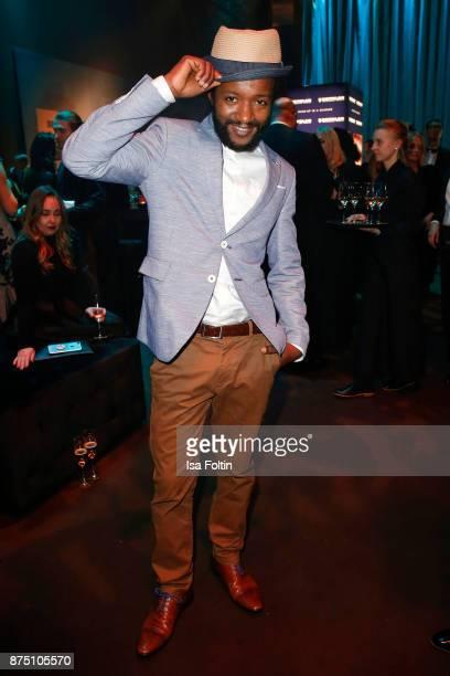 Eric Kabongo poses at the Bambi Awards 2017 party at Atrium Tower on November 16 2017 in Berlin Germany