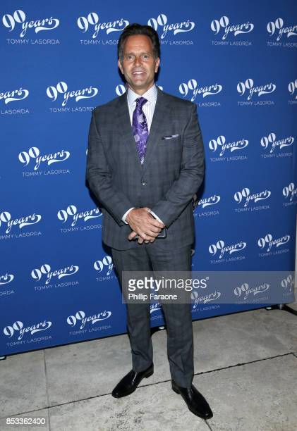 Eric Karros at Tommy Lasorda's 90th Birthday Celebration at The Getty Center on September 24 2017 in Los Angeles California