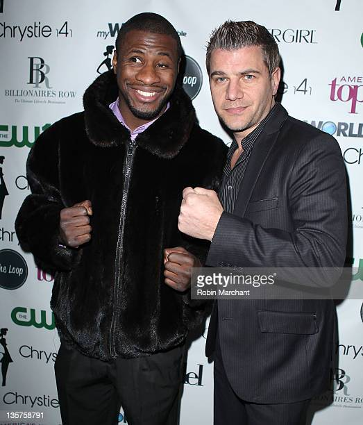 Eric Kelly and Tom Murro attend Lisa D'Amato's America's Next Top Model All Stars celebration at Chrystie 141 on December 13 2011 in New York City