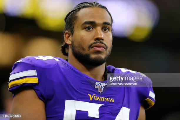 Eric Kendricks of the Minnesota Vikings during a preseason game at the Mercedes Benz Superdome on August 09, 2019 in New Orleans, Louisiana.