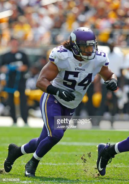 Eric Kendricks of the Minnesota Vikings in action against the Pittsburgh Steelers on September 17, 2017 at Heinz Field in Pittsburgh, Pennsylvania.
