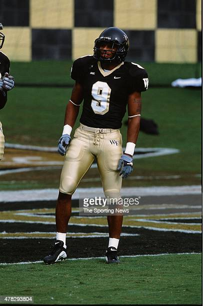 Eric King of the Wake Forest Demon Deacons looks on against the North Carolina Tar Heels on October 26 2002