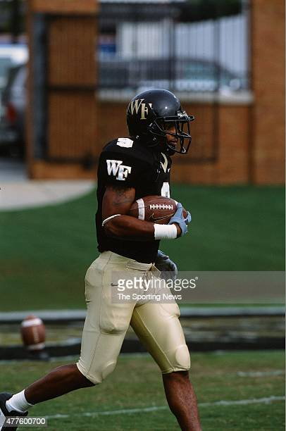 Eric King of the Wake Forest Demon Deacons runs with the ball against the North Carolina Tar Heels on October 26 2002