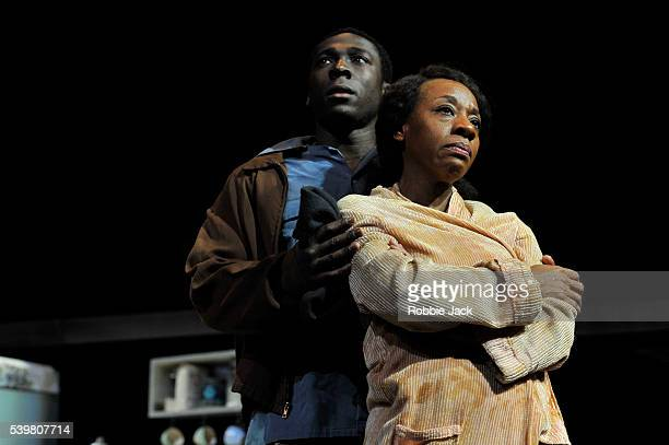 Eric Kofi Abrefa as David and Marianne JeanBaptiste as Margaret Alexander in James Baldwin's The Amen Corner directed by Rufus Norris at the National...