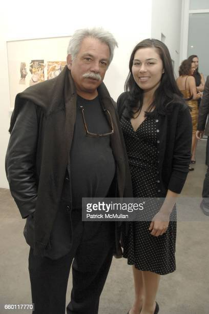 Eric Kroll and guest attend SHE Images of women by Wallace Berman and Richard Prince Opening at Michael Kohn Gallery on January 15 2009 in Beverley...