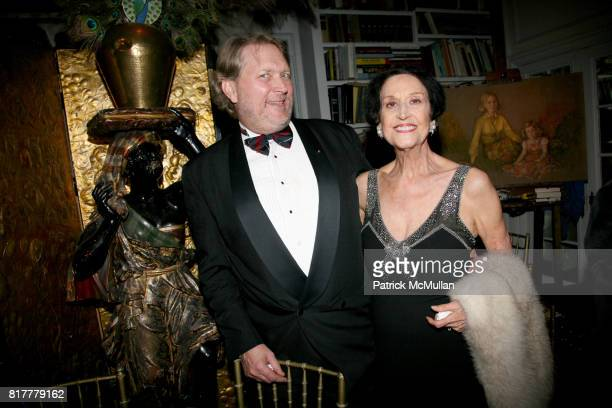 Eric Kuzmuk and Patricia Altshuler attend Portrait artist ZITA DAVISSON's Great Gatsby Party A Roaring 20's Evening at Private Residence on October...