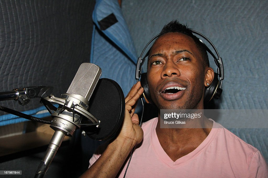 Eric LaJuan Summers attends Broadway's 'Motown:The Musical' Original Broadway Cast Recording Session at MSR Studios in Times Square on May 2, 2013 in New York City.